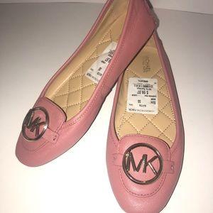 Michael Michael Kors pink leather ballerina flats